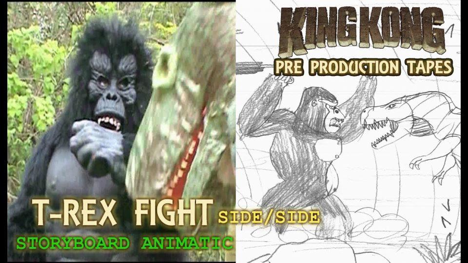 King Kong (2016) Fan Film ANIMATIC / FINAL SCENE - T-Rex Fight