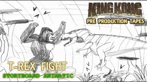 King Kong (2016) Fan Film STORYBOARD ANIMATIC – T Rex Fight