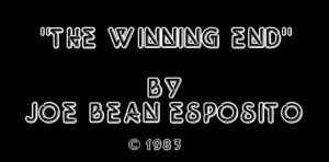 """The Winning End"" by Joe Bean Esposito – MATTHEW LAMONT"