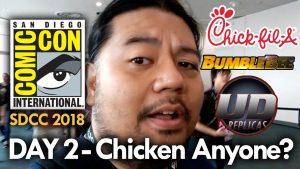 San Diego Comic Con (2018) Day 2 – Chicken Anyone? MEGA JAY RETRO