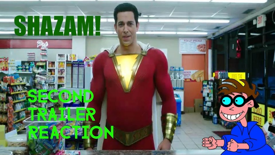 SHAZAM - Second Trailer Reaction Video.