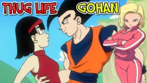 Queen18 reacts to Thug Life Gohan! (A DBZ Parody)