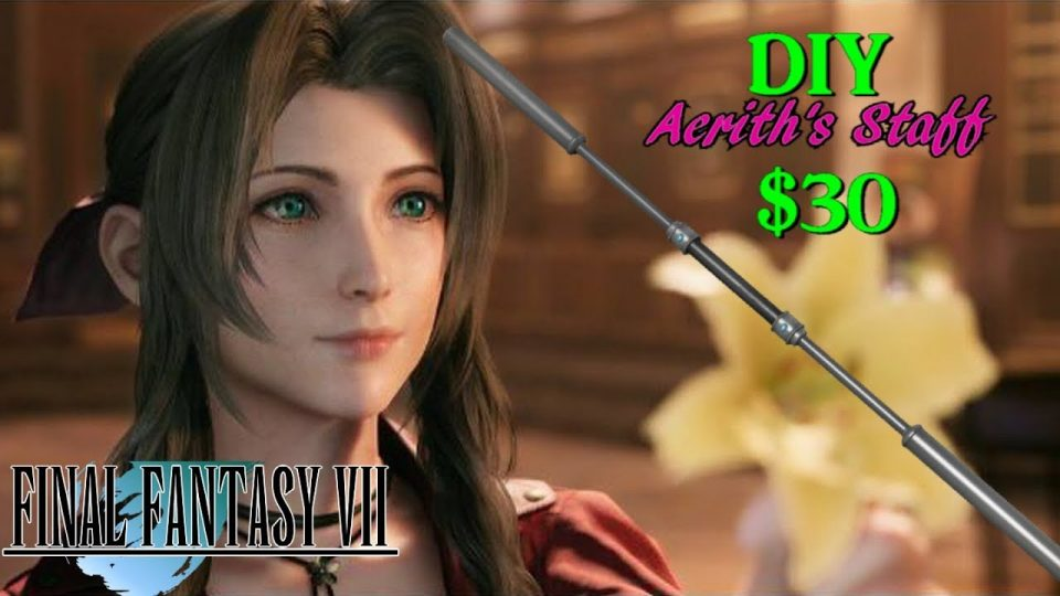 How To Build Aerith's Staff For Under $30! BIGJACKFILMS PROP SHOP