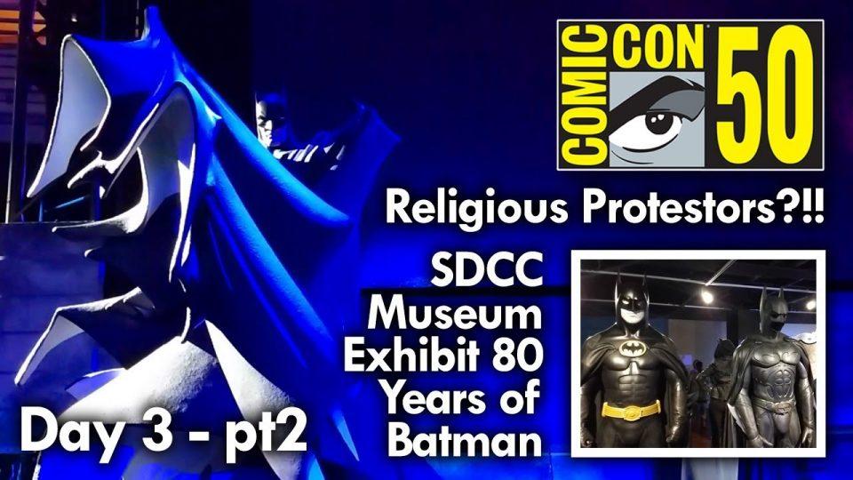 SDCC Day3 2019 part2 The SDCC Museum 80s years of Batman Exhibit Mega Jay Retro #batman #sdcc50
