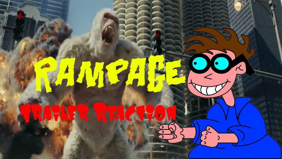 RAMPAGE-Trailer Reaction Video.